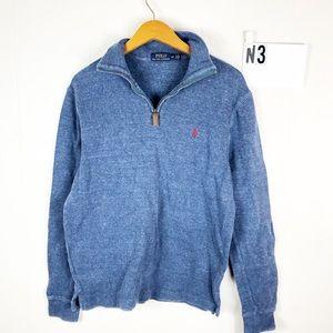 Ralph Lauren polo cotton quarter zip sweater S